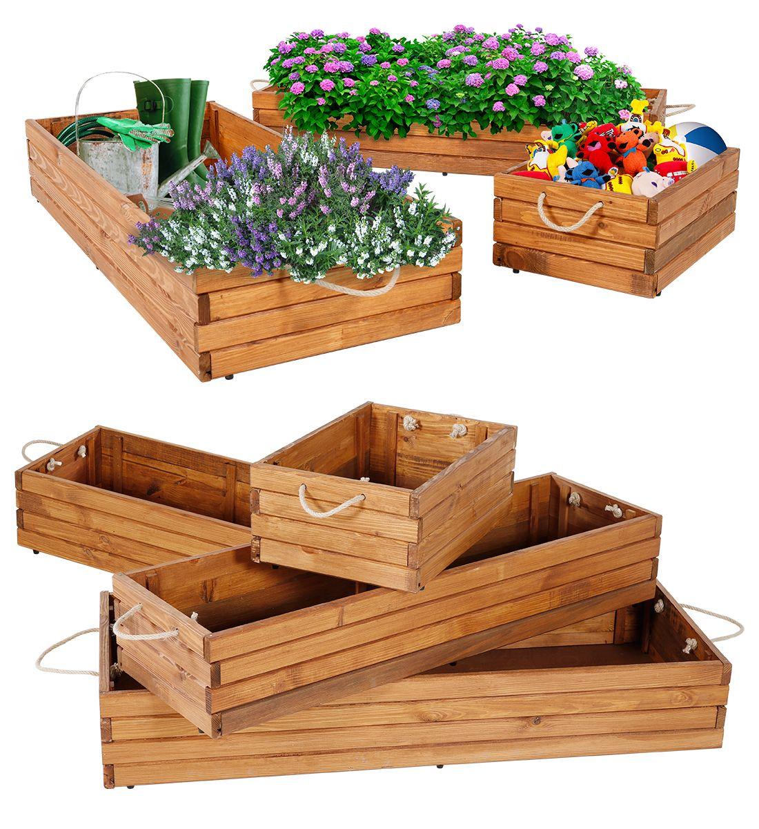 Skládací dřevěný box 400x280x150 mm