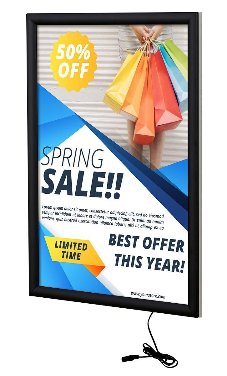 Světelný rám Max Ledbox 25 - na plakáty A1 - Černý A-Z Reklama CZ