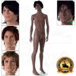 Chlapecká figurína CloseUpOne - póza 1