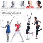 Dámská figurína Sport Běžkyně 2 s prolisovanými vlasy - Bílá A-Z Reklama CZ