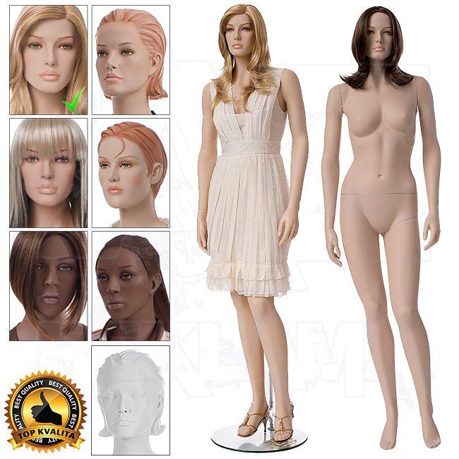Dámská figurína TOMORROW s hlavou pro paruku s Make-up - póza 1 A-Z Reklama CZ