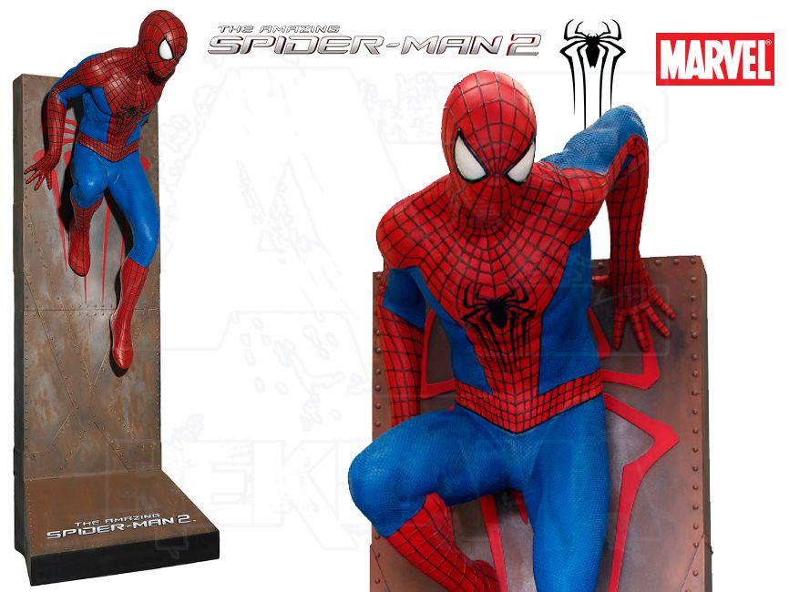 Filmová Figura v životní velikosti - Amazing SPIDER-MAN 2 s nosným podstavcem