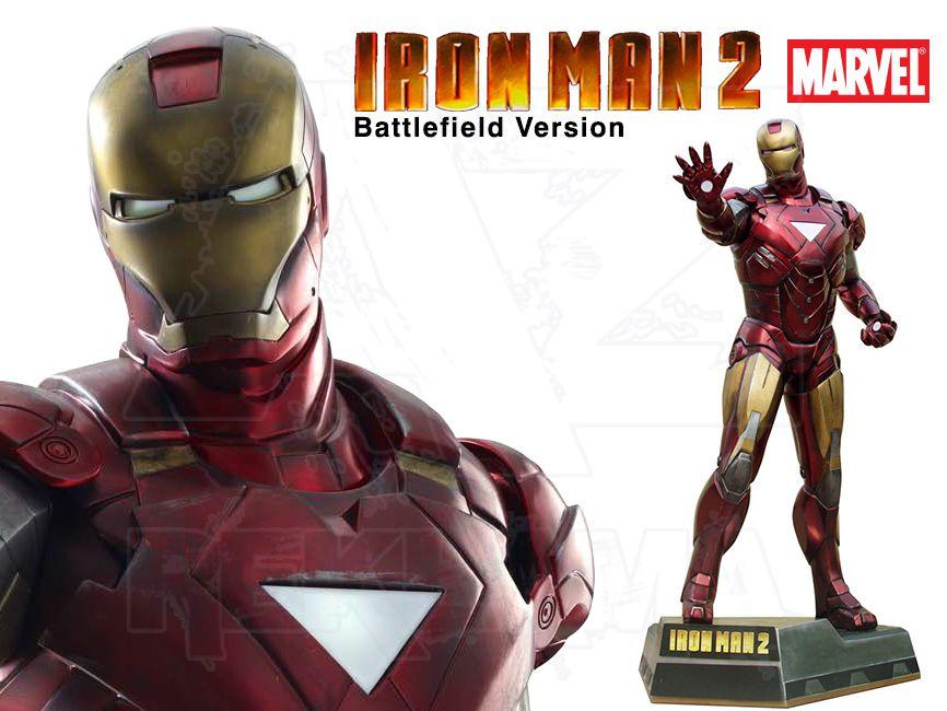 Filmová Figura v životní velikosti - IRON MAN 2 z bojiště