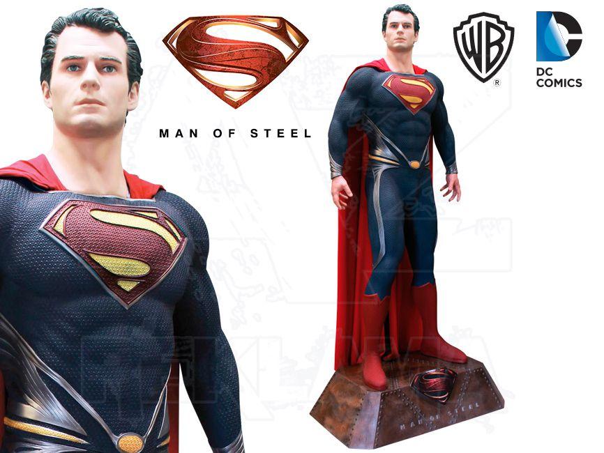 Filmová Figura v životní velikosti - SUPERMAN Muž z oceli