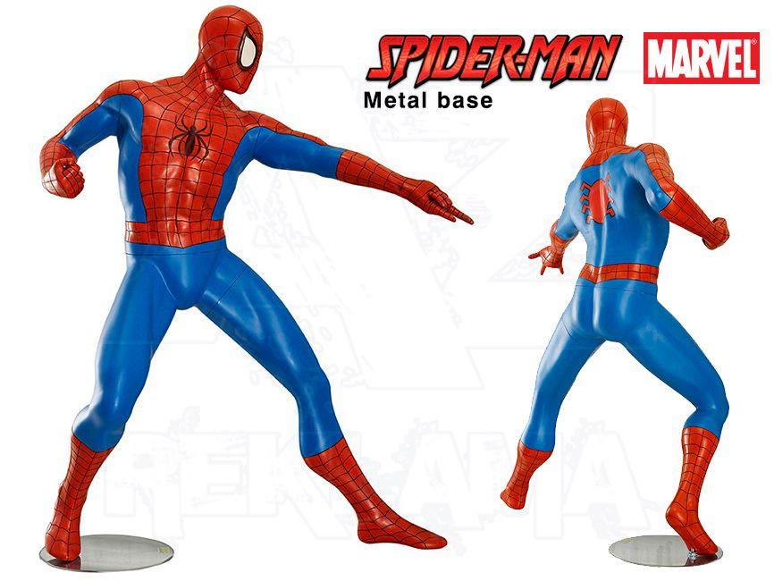 Komiksová Figura v životní velikosti - SPIDERMAN kovová podesta
