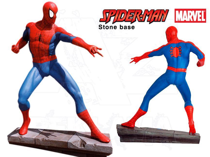 Komiksová Figura v životní velikosti - SPIDERMAN kamenná podesta