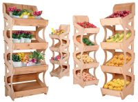 Dřevěné prodejní regály
