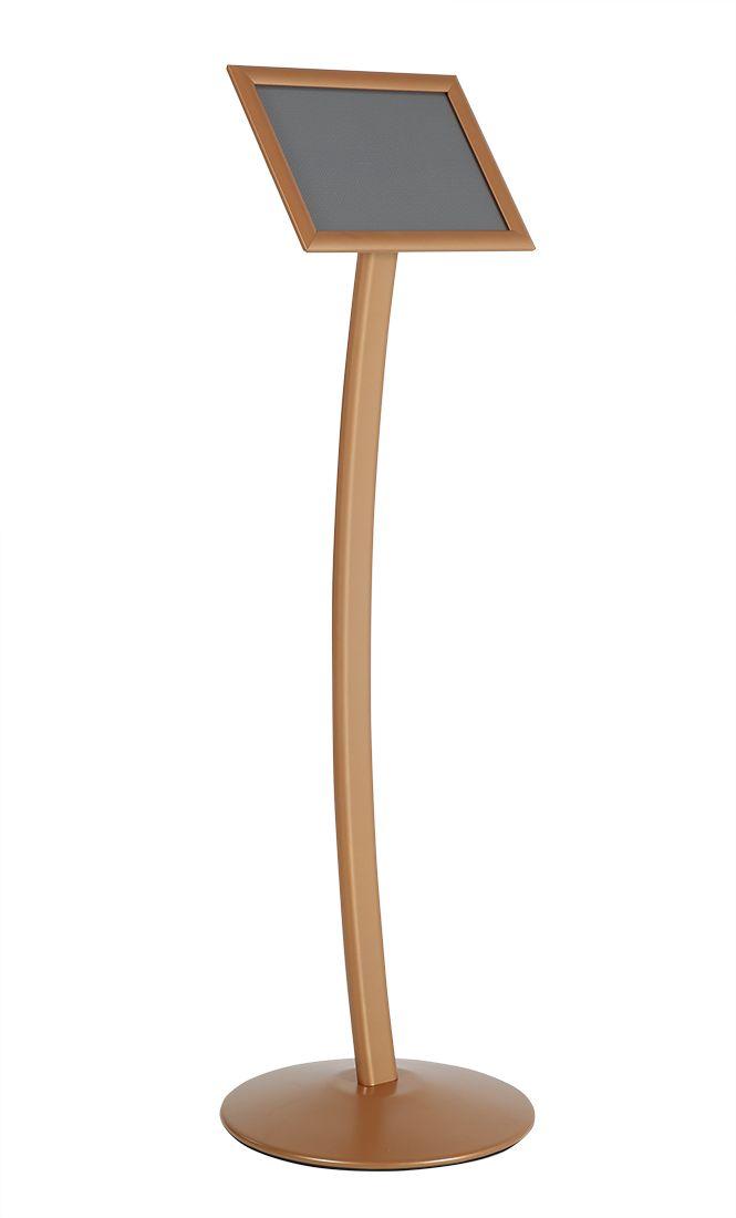 Stojan na noze - Curved Menuboard A4 - Copper