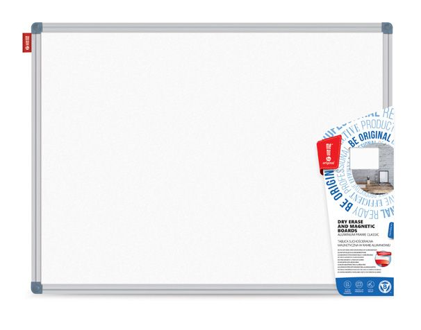 Magnetická tabule, 70x50 cm, hliník. rám Classic, stříbrný Memoboards