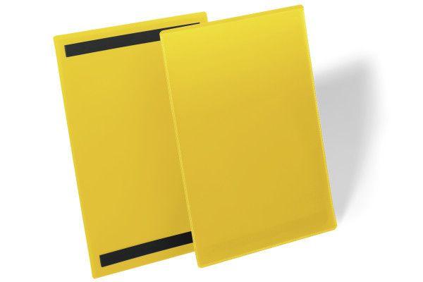 Magnetická kapsa A4 na výšku - 50 ks - Žlutá