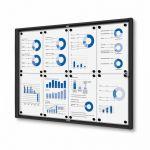 Informační Vitrína interiérová - 9xA4 - Černý rám