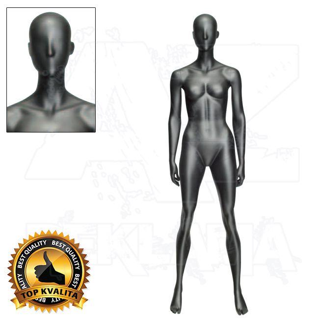 Dámská abstraktní figurína ATHLETIC - Černá - póza 1