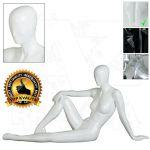 Dámská abstraktní figurína ART 5 - Bílá