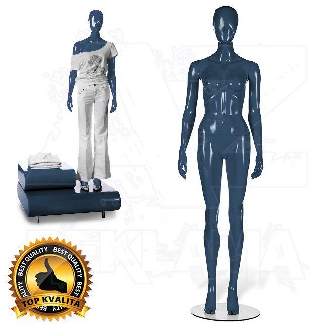 Dámská abstraktní figurína STRAIGHT póza 1 Modrá