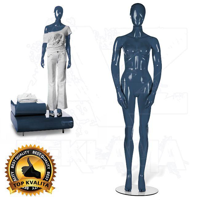 Dámská abstraktní figurína STRAIGHT póza 2 Modrá