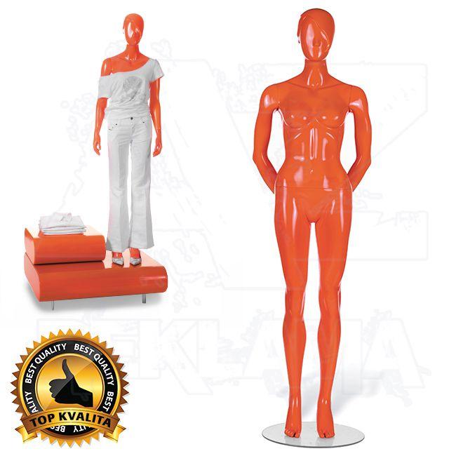 Dámská abstraktní figurína STRAIGHT póza 3 Oranžová