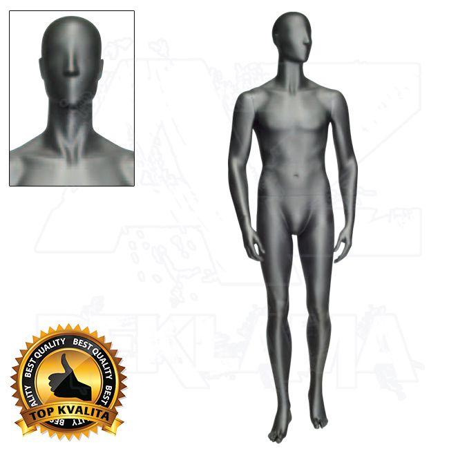Pánská abstraktní figurína ATHLETIC - Černá - póza 3