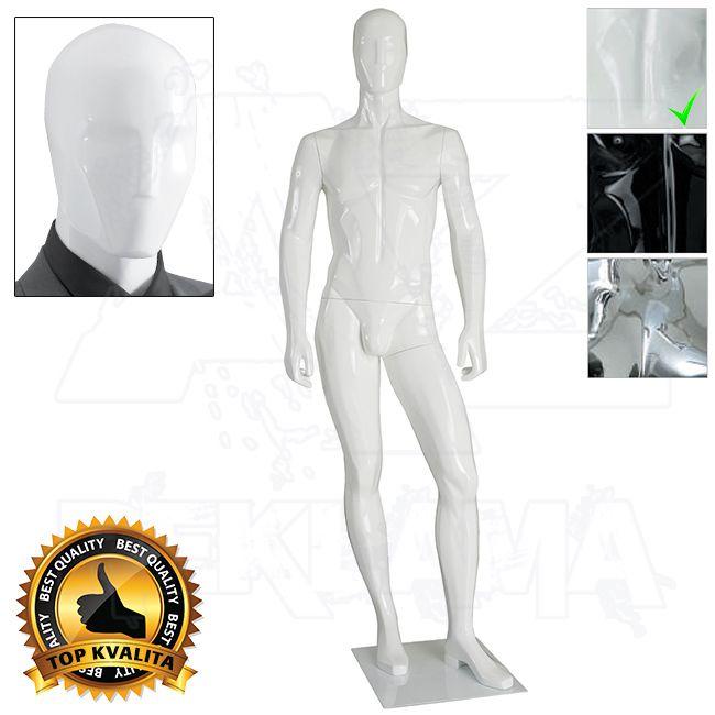 Pánská abstraktní figurína kolekce ART póza 3 - Bílá