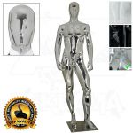 Pánská abstraktní figurína ART 3 - Chromová