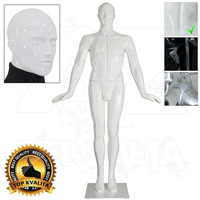Pánská abstraktní figurína kolekce ART póza 5 - Bílá