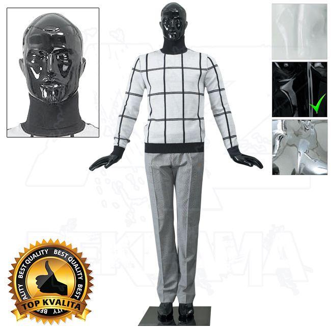 Pánská abstraktní figurína kolekce ART póza 5 - Černá