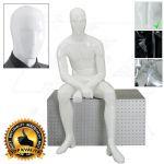 Pánská abstraktní figurína ART 6 - Bílá
