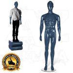 Pánská figurína STRAIGHT póza 1 Modrá
