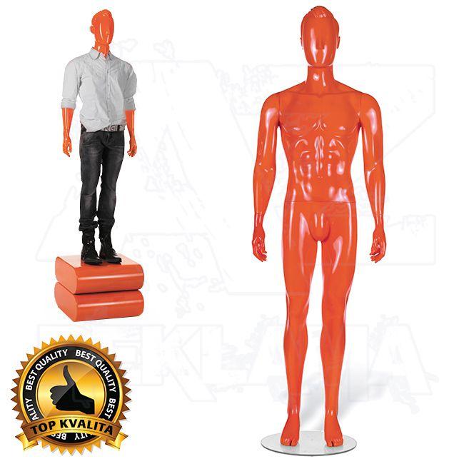Pánská abstraktní figurína STRAIGHT póza 1 Oranžová