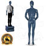 Pánská figurína STRAIGHT póza 2 Modrá