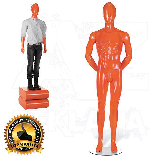 Pánská abstraktní figurína STRAIGHT póza 2 Oranžová