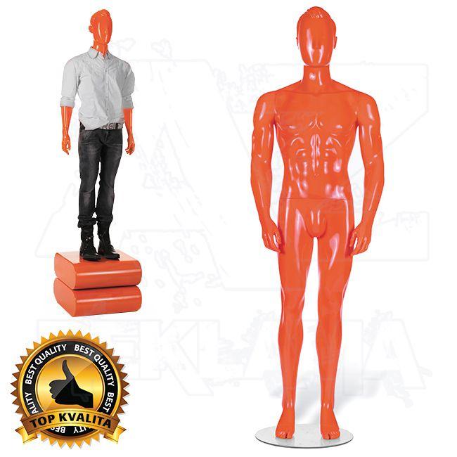 Pánská abstraktní figurína STRAIGHT póza 3 Oranžová