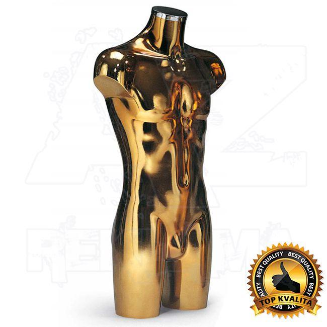 Pánské plastové aranžérské torzo dlouhé - Zlaté