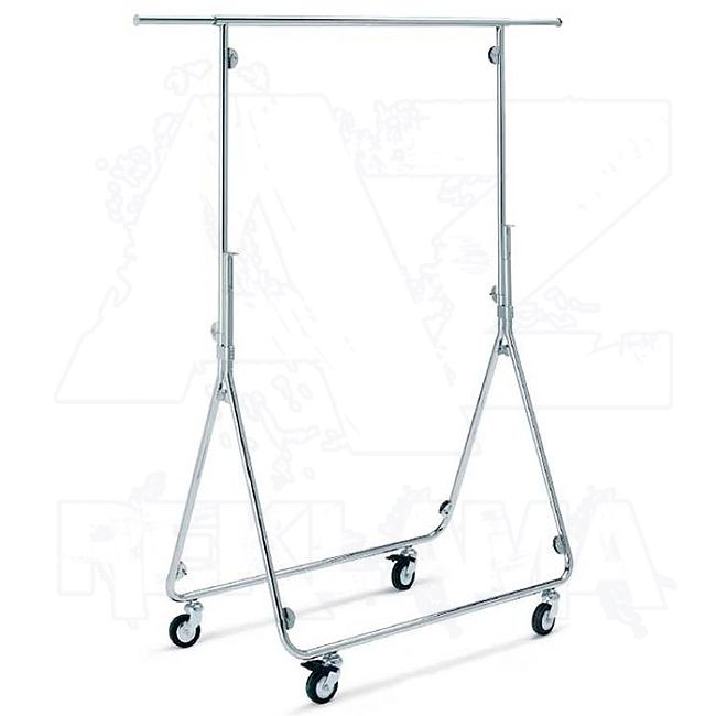 Pojízdný skládací stojan - Štendr na oděvy o výšce 150 cm