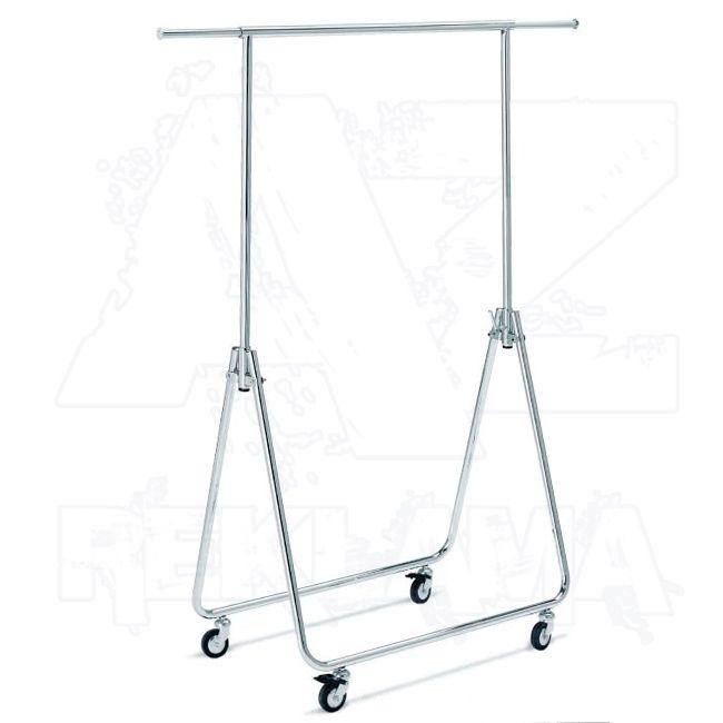 Pojízdný skládací stojan - Štendr na oděvy o výšce 170 cm