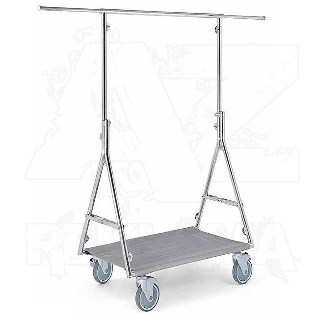 Pojízdný skládací stojan - Štendr na oděvy o výšce 165 cm
