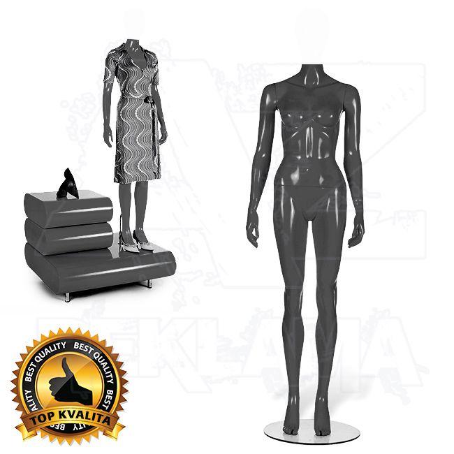 Dámská figurína bez hlavy STRAIGHT Šedá