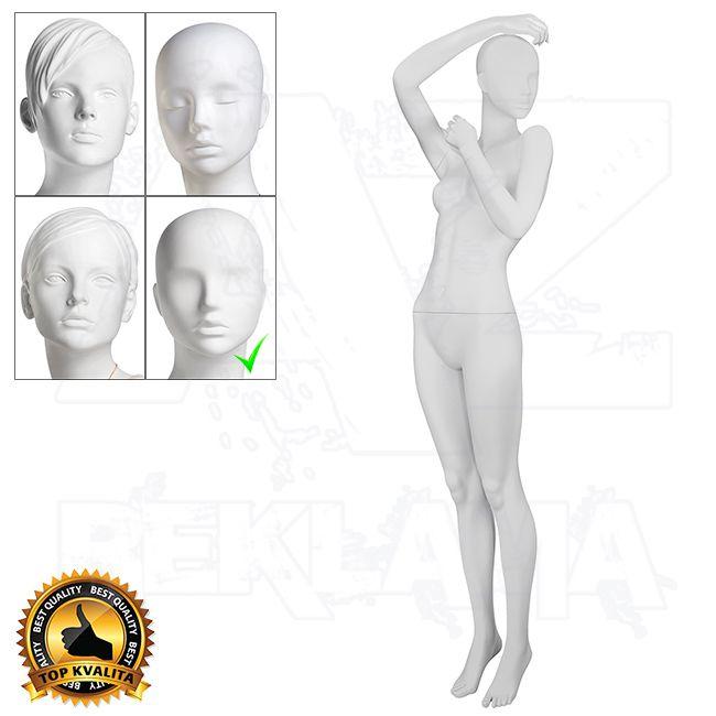 Dámská figurína VISION - Matná Bílá póza 12