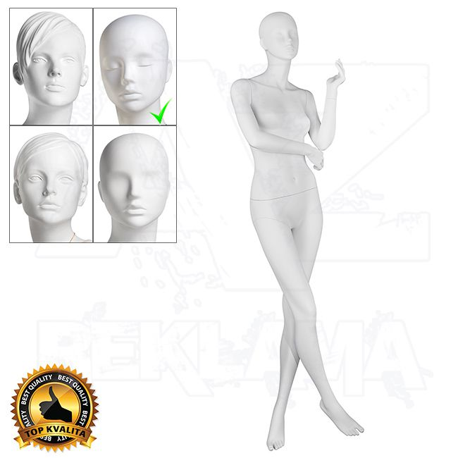 Dámská figurína VISION - Matná Bílá póza 2