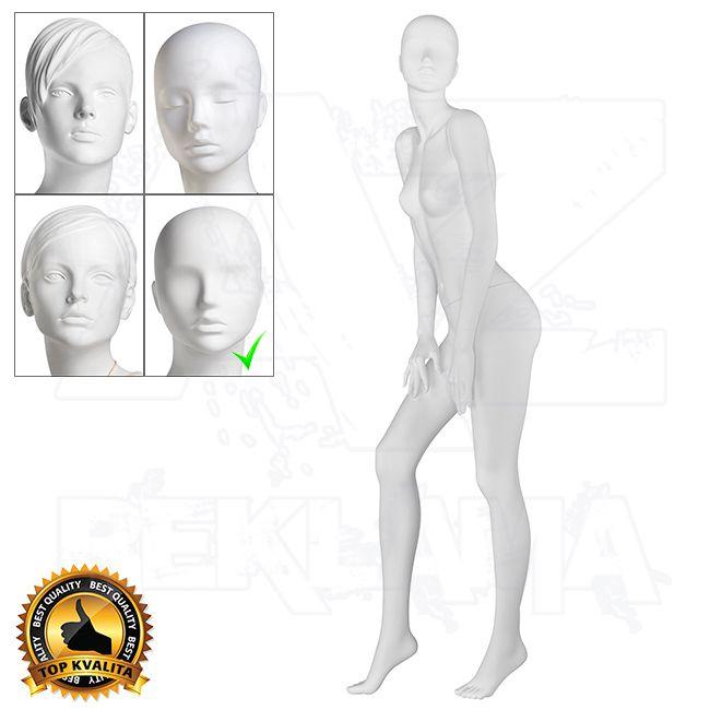 Dámská figurína VISION - Matná Bílá póza 5