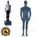 Pánská figurína STRAIGHT póza 3 Modrá