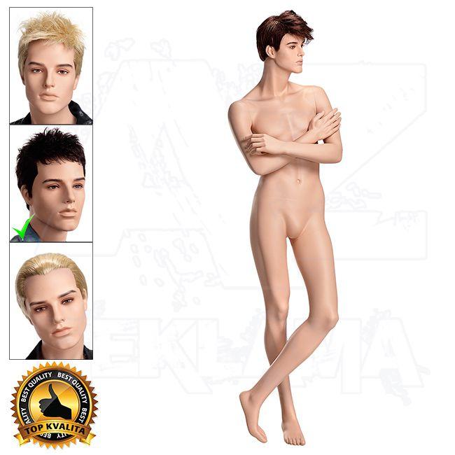 Pánská figurína VISION - Tělová s Make-up póza 9