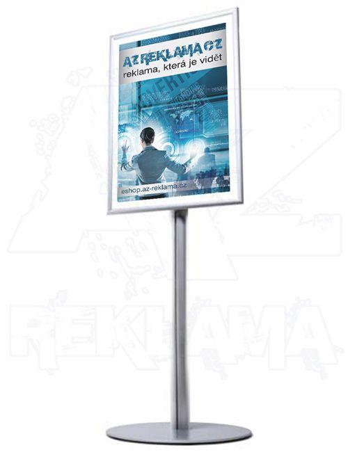 Info Pole kulatá základna - s klaprámem A1 - oblý roh A-Z Reklama CZ