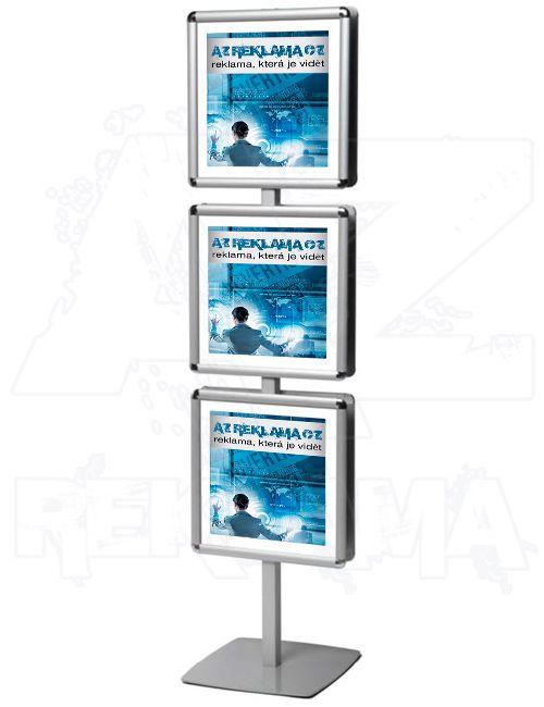 Info stojan se šesti rámy 400x400 mm - Multiframe A-Z Reklama CZ