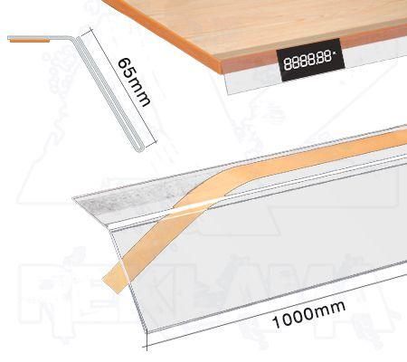 Samolepící cenovková regálová lišta se sklonem - 65x1000mm
