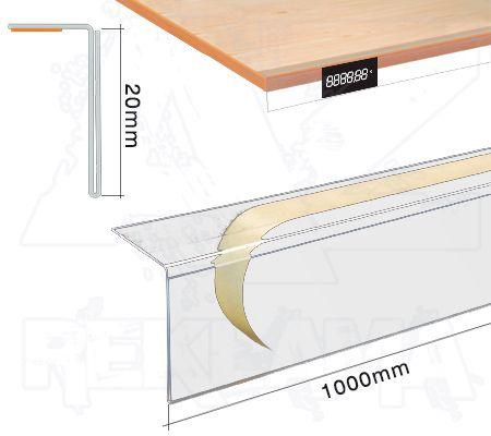Samolepící cenovková regálová lišta standard - 20x1000mm
