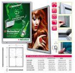SCT PREMIUM venkovní prosvětlená LED vitrína na plakát 762x1016 A-Z Reklama CZ