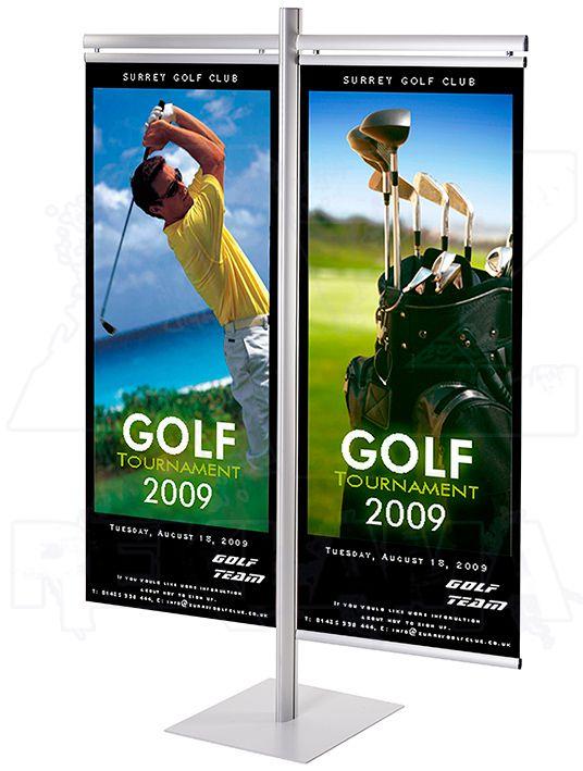 Stojan Multistand s 2 držáky banneru 60cm a 60cm A-Z Reklama CZ