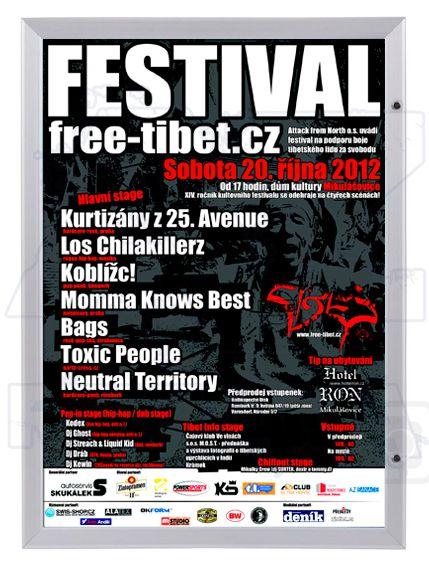 Uzamykatelný plakátový rám - vitrína Premium A2 A-Z Reklama CZ