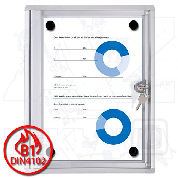 Vitrína SCRITTO ECONOMY s protipožární certifikací B1 - 1xA4 A-Z Reklama CZ