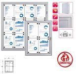 Vitrína interier-exterier s protipožární certifikací B1 - 12xA4 A-Z Reklama CZ